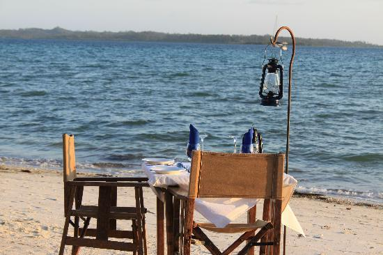 Fundu Lagoon: Dinner on the Beach
