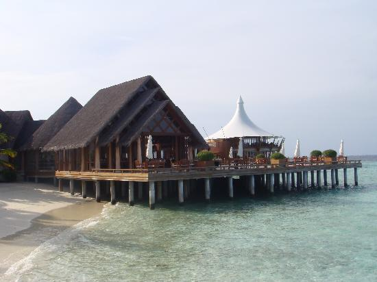 Baros Maldives: Lime Restaurant with Lighthouse restaurant in background