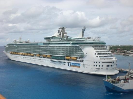 A Royal Caribbean Ship Also Docked In Cozumel It Was Huge  Picture Of Cozu