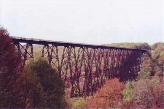 Warren, Пенсильвания: kinzua bridge before a tornado took it down.