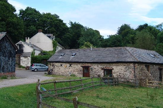 North Wheddon Farm: The house from the farmyard