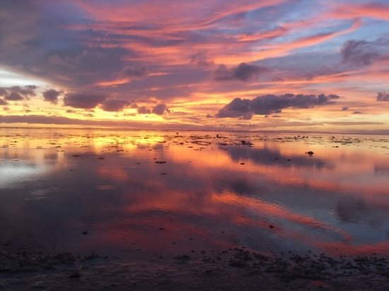 Aitutaki, Cook Eilanden: everynight's sunset