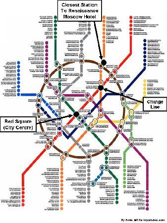 AZIMUT Hotel Olympic Moscow: Moscow Metro: How to move from the hotel to Red Square
