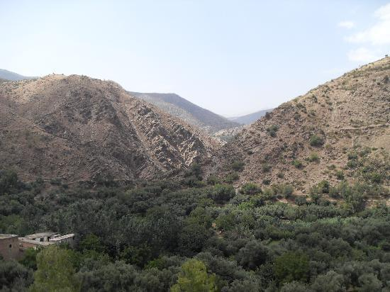 Berber Travel Adventures : View down the valley from Amizmiz