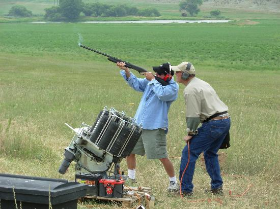 Sylvan Dale Guest Ranch: skeet shooting