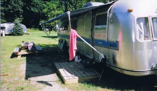 """Kate's Lazy Meadow Motel: our airstream. Now my """"home away from home"""""""