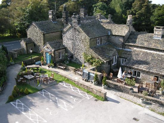 Innkeeper's Lodge Hathersage, Peak District: view of the pub side of the site