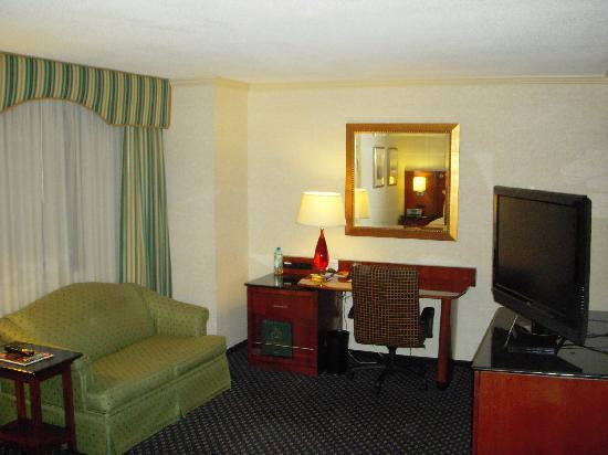 Detroit Marriott Troy: Sofa, Desk, TV