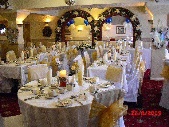 The Talbot Hotel : The lovely laid out function room