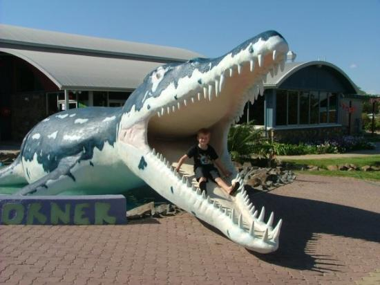 Alex and a Kronosaurus at Richmond