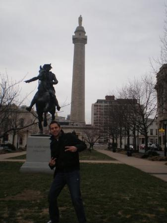 Washington Monument and Mount Vernon Place Photo