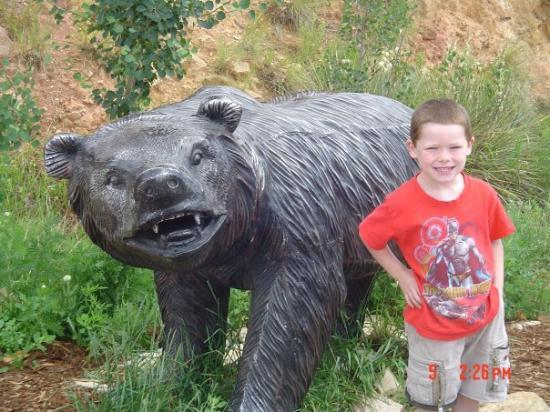 Cave of the Winds Mountain Park: Hunter B & bear hanging out