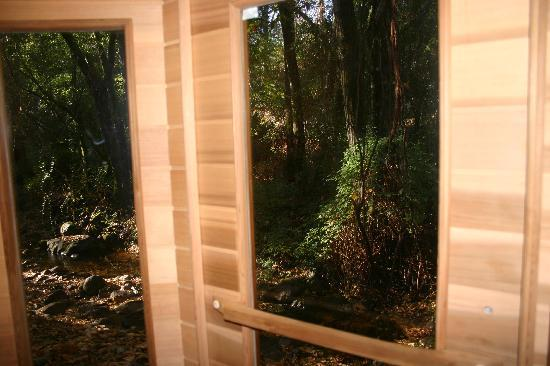 Middletown, CA: Infra-red sauna with a creek view