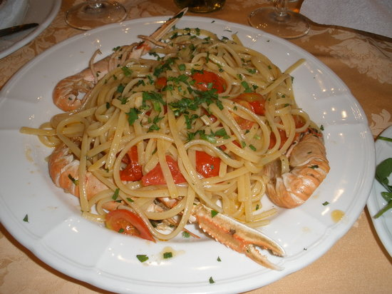 Le Grazie : Pasta with Seafood dish