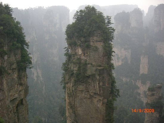 Changsha, Cina: Up in the mountains