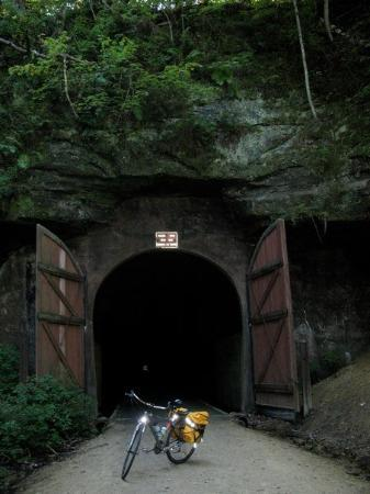 Elroy-Sparta State Trail: Tunnel # 1 Found letterbox here