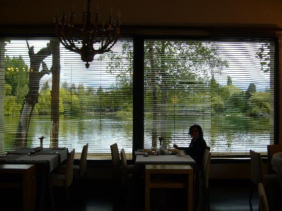 Hotel Villa Paulita: Comedor con vistas al lago