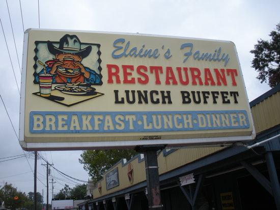 Elaine's Restaurant: Sign