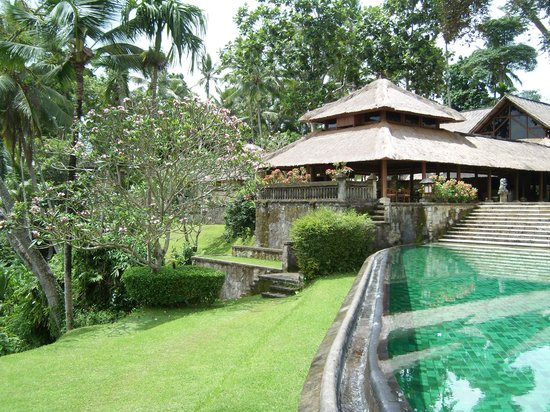 Kedewatan, Indonesien: Restaurant and the infinity pool