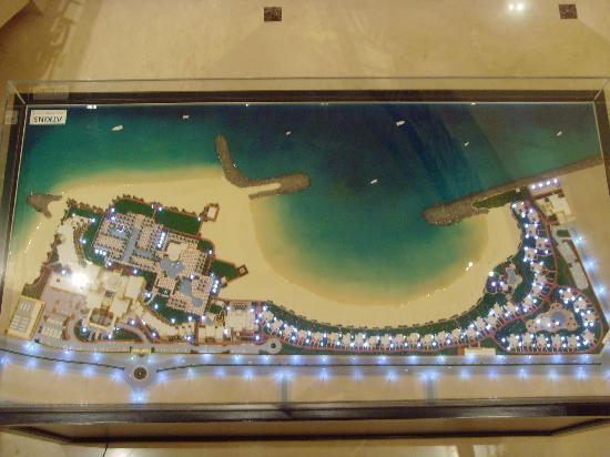 The resort map Picture of Hilton Ras Al Khaimah Resort Spa Ras