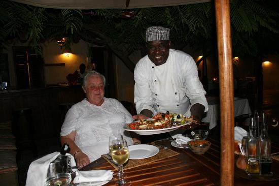 Lamu House Hotel: Seafood Platter served by Johnstone (Head Chef)