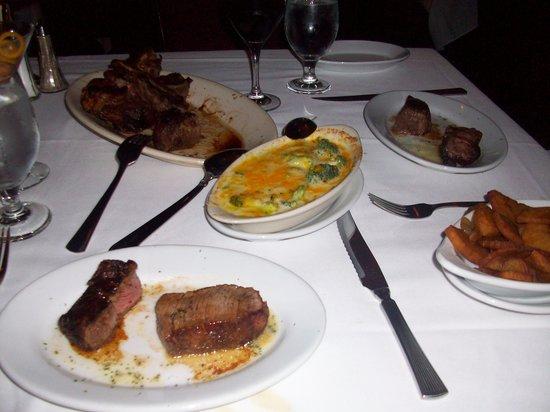 Ruth's Chris Steak House : Porterhouse. one side Filet other side New York Strip.