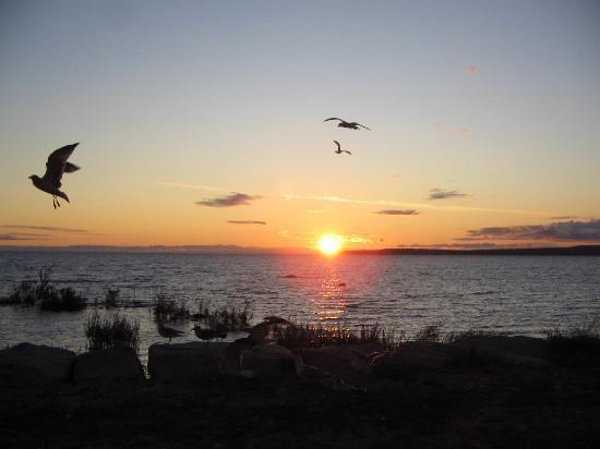 Quality Inn Lakefront: Sunrise over Lake Huron