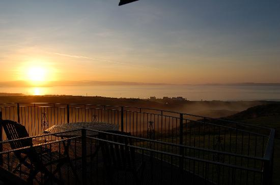 Sunrise from the Antrim Room, The Monachs