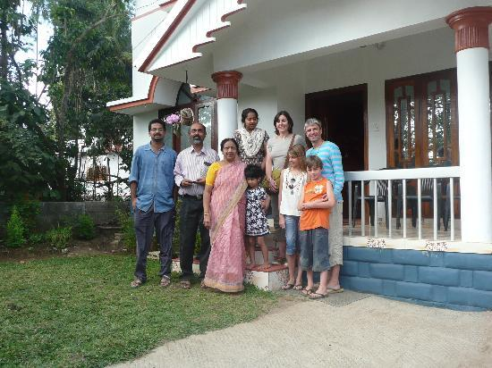 Koshys Homestay : French family with Zacharian, Marani and their family