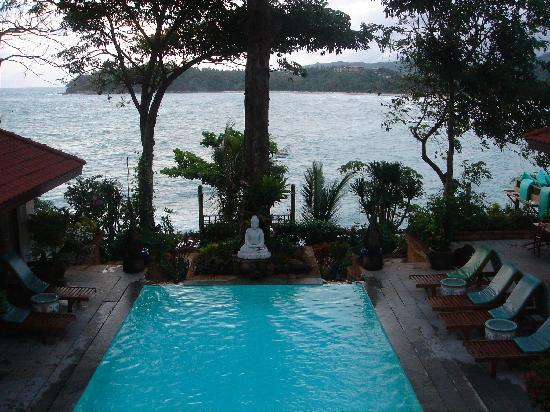 Villa Phuket: View from balcony, over pool and Kata Bay