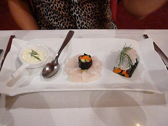 L'Orangerie: sushi de St Jacques
