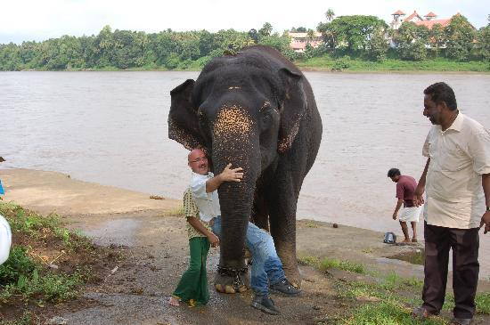 Casa Mia Homestay : After bathing the elephants at training grounds