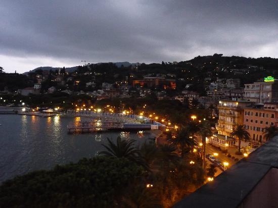 Rapallo from our balcony at Alberto Bandoni