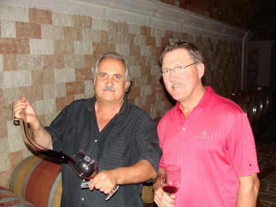 Del Dotto Vineyards & Winery: Dave Del Dotto and one of our tour