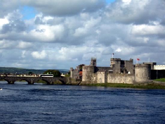 Railway Hotel: King's Castle on Shannon River Limerick Ireland