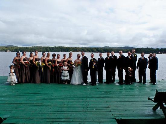 The North Woods Inn: Wedding Party on the dock