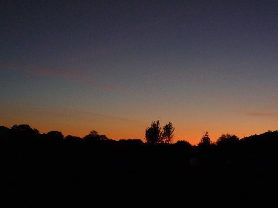 Travel Inn: Sunset out of the landing window!