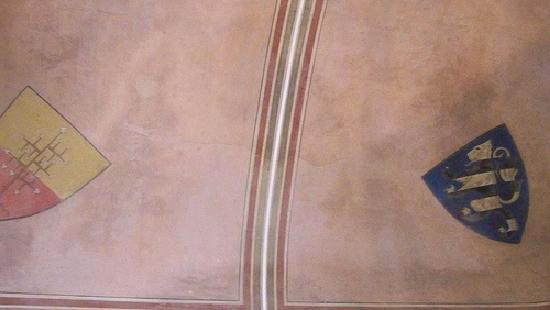 Fosdinovo, Itália: Aura sul soffito del Castello Malaspina