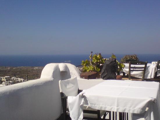 Finikia Memories: Restaurant Terrasse Richtung Meer