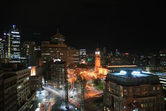 Mercure Sydney: A night scene from the top floor
