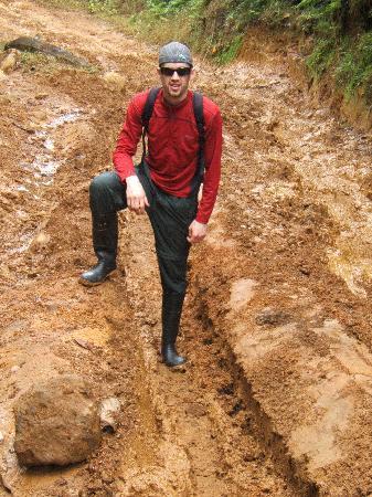 Rara Avis Rainforest Lodge & Reserve: deep mud on the tractor trail