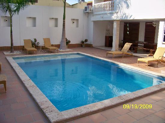 Casa Castel: The pool area.
