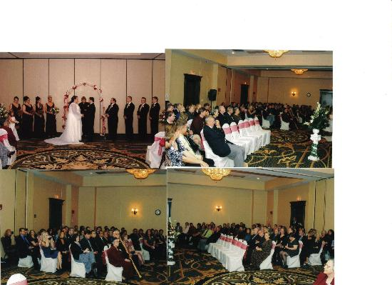 Milford, MA: Ceremony in one third of ballroom