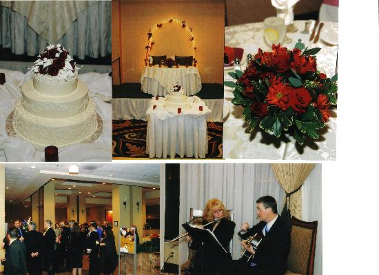 "Milford, MA: cake table, sweetheart table and Cocktail reception with ""The Two of us Performing"""
