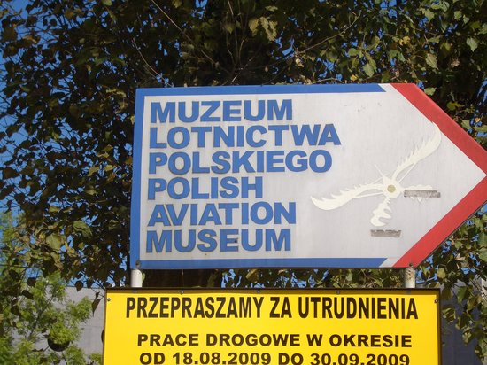 Polish Aviation Museum: entrance sign