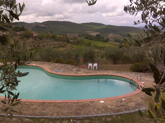 Villa Sangiovese: The pool on the hillside