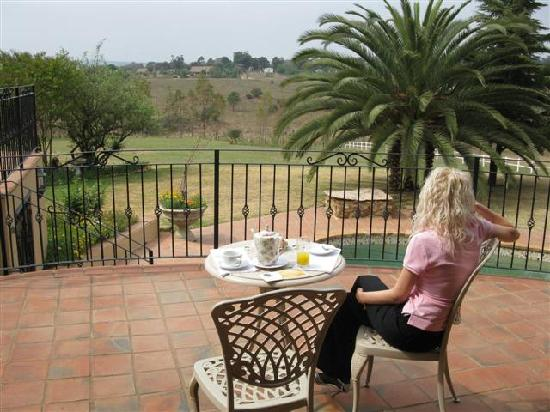 Amber Rose Country Estate : the terrace