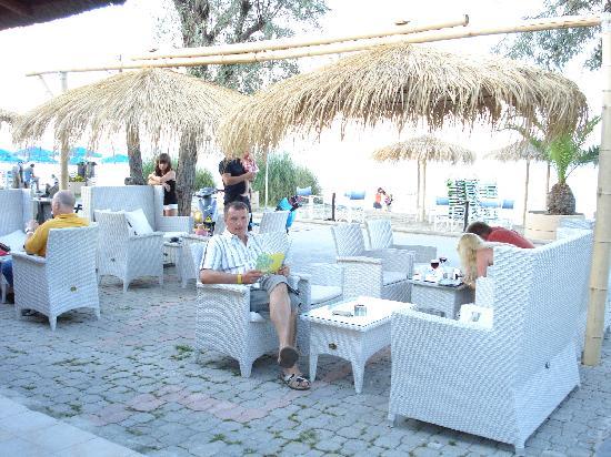 Poseidon Palace Hotel: die Strandbar