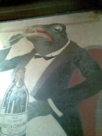 Auberge de la Grenouillere: One of the frog pictures on the wall