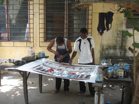 Lome, Togo: Batik painting